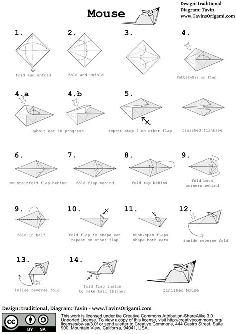 Origami Rat - origami mouse origami mice and tutorials