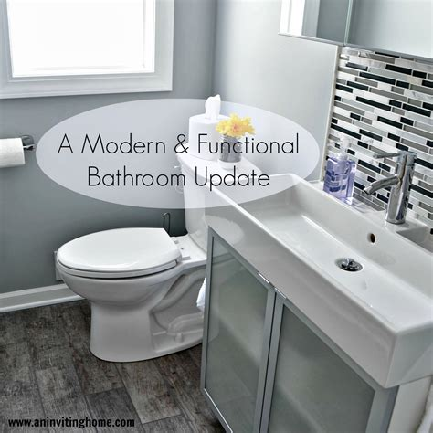 shooing natural in the shower updated version youtube remodelaholic modern bathroom update