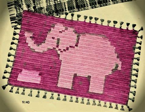 Pink Elephant Rug by Pink Elephant Crochet Rug Pattern