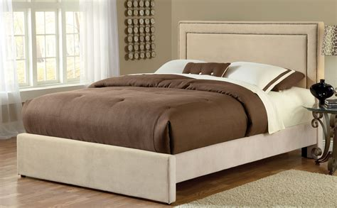 oversized upholstered headboard hillsdale amber fabric bed buckwheat hd 1566bqra at
