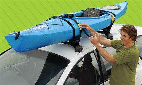 How To Attach Kayak To Roof Rack by Roof Rack Straps Tie Downs Roof Racks On The Run