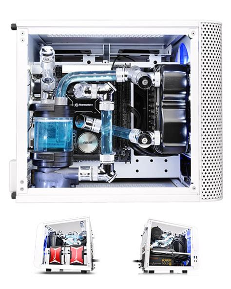 Thermaltake V1 Snow White thermaltake v1 snow edition mini itx cube chassis compatible with air and liquid