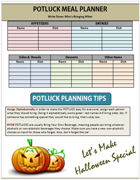 ideas stin up 10 potluck signup sheets printable word