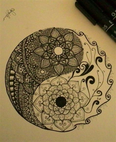 yin yang flower tattoo 1000 ideas about yin yang tattoos on henna
