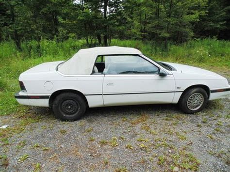 active cabin noise suppression 1992 chrysler lebaron auto manual purchase used 1992 chrysler lebaron convertible in ava new york united states