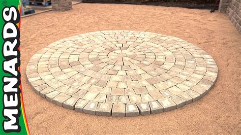 Circle Paver Patio Kits Circular Patio Kit How To Menards