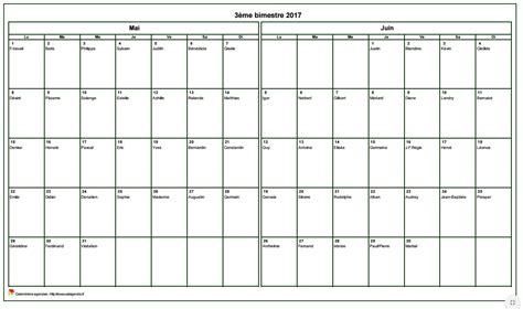 calendrier 2017 bimestriel format paysage avec les f 234 tes
