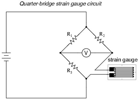 wheatstone bridge voltmeter strain gauges electrical instrumentation signals electronics textbook
