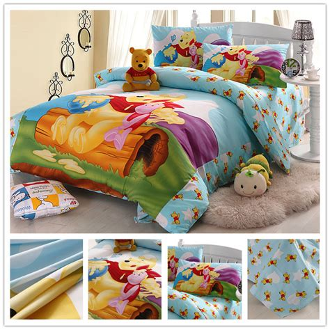 character twin beds twin queen size character cotton designer yellow bear kids boys cartoon bedding set