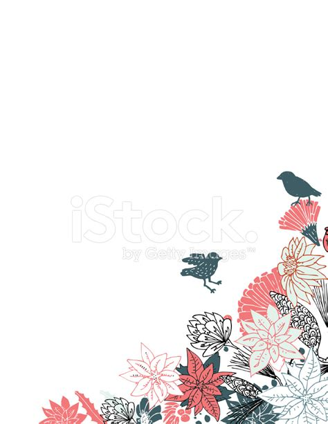 Beautiful Bathroom Design by Pretty Flower Border With Birds Stock Vector Freeimages Com