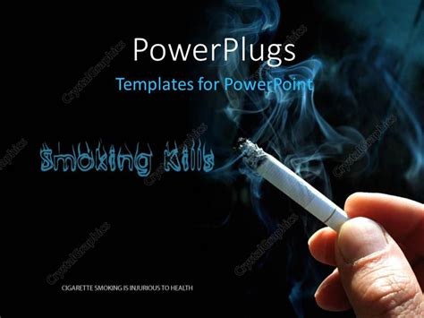 Powerpoint Template Smoking Kills Concept With Cigarette And Smoke 26554 Cessation Powerpoint Template