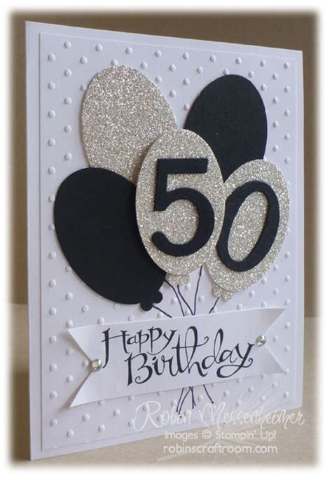 Handmade 50th Birthday Cards - 187 2013 187 january