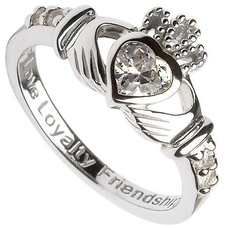 claddagh ring sterling silver birthstone claddagh at