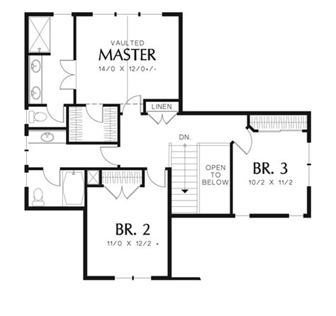 house drawings plans chittenden 6398 3 bedrooms and 2 baths the house designers