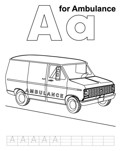 ambulance coloring page free 17 best images about car coloring pages on pinterest