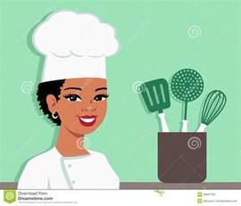 kitchen chef cartoon baker illustration of woman stock vector image 53637793