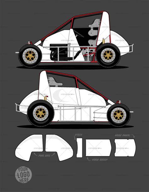 race car graphics design templates dirt midget template srgfx com