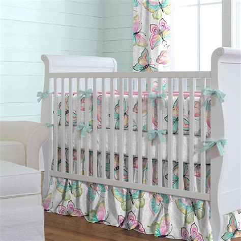 butterfly baby bedding bright damask butterflies crib bedding carousel designs