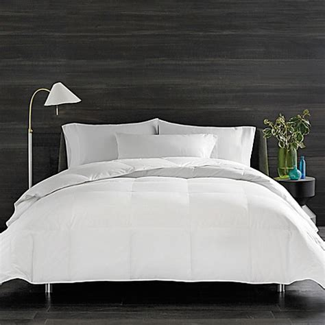 bed bath and beyond white comforter real simple 174 solid down alternative comforter bed bath
