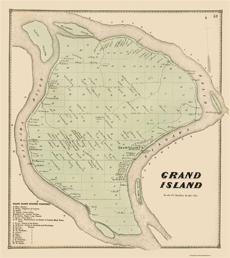 map of grand island historic city maps grand island township new york