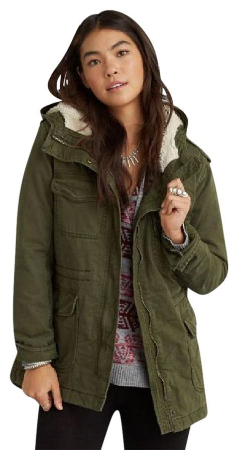 Jaket Parka Army Eagle american eagle outfitters sherpa hooded city parka coat