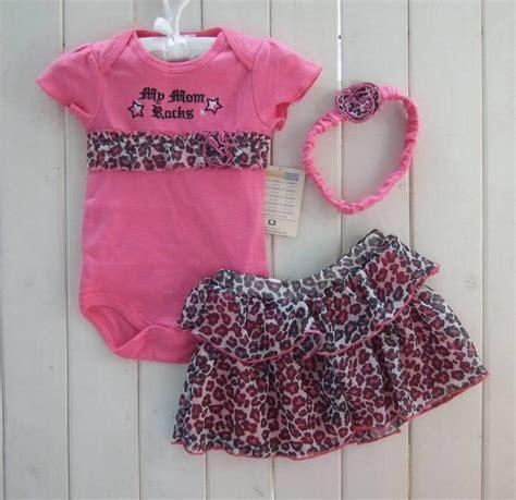 Baju Anak Perempuan Baby Gap Sweatshirts Original 2018 toddler set dots leopard romper suit ruffles tutu pettiskirt headband flower