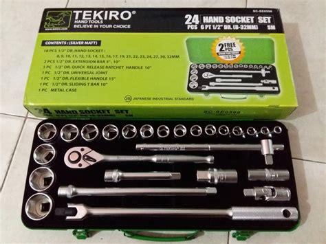 Tekiro Kunci Sok T 8 Mm jual kunci sok tekiro set 24 pcs 8 32mm metal di