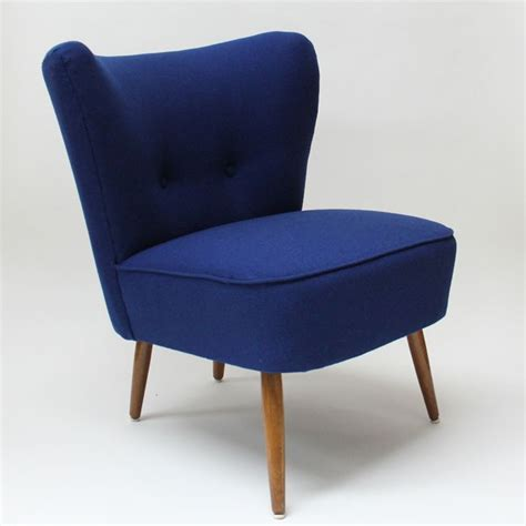 1950 s cocktail chair blue seating