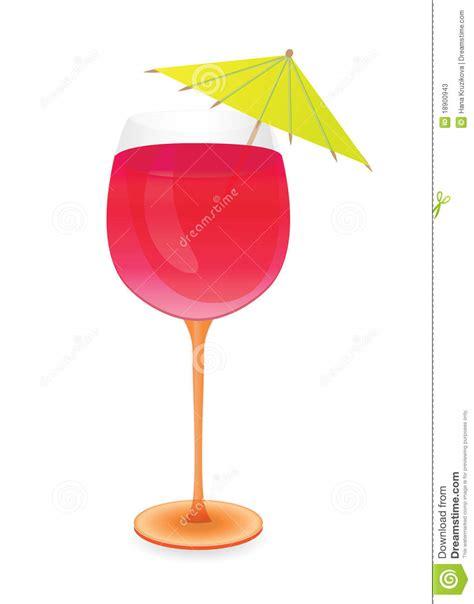 martini glass with umbrella cocktail with umbrella stock photos image 18900943