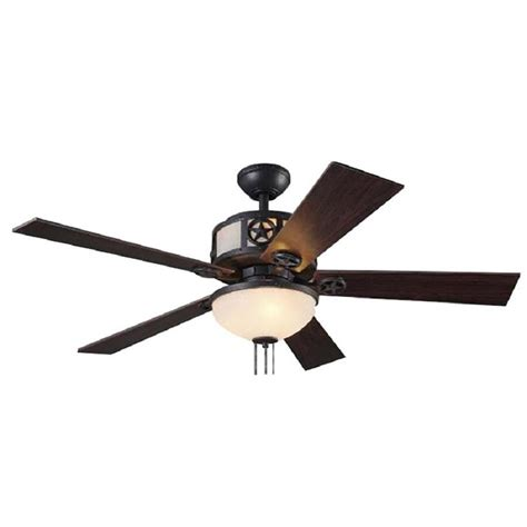 Black Ceiling Fan With Light Kit by Shop Harbor Thoroughbred 52 In Matte Black Downrod