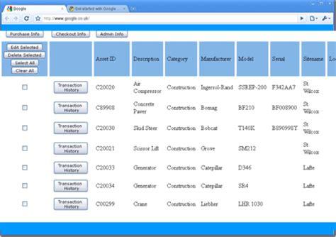 web based tool management