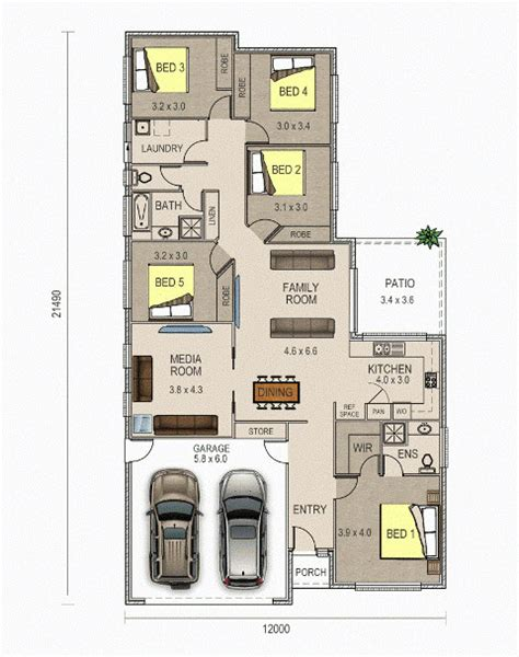 house plans with media room the piper design 5 bedroom house design with media room