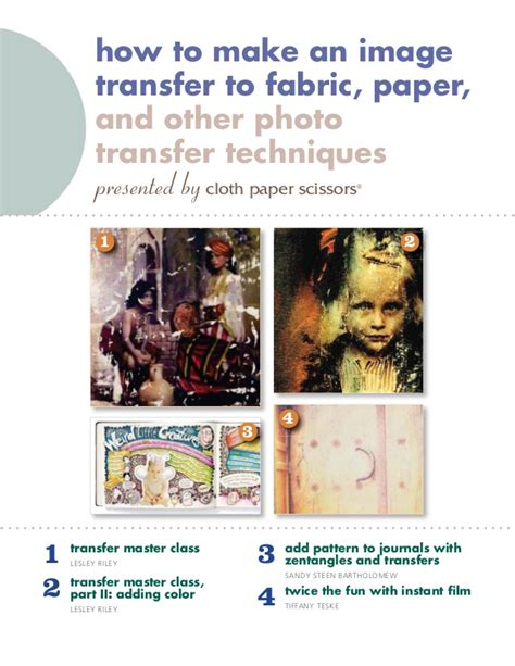 How To Make Fabric Transfer Paper - how to make an image transfer