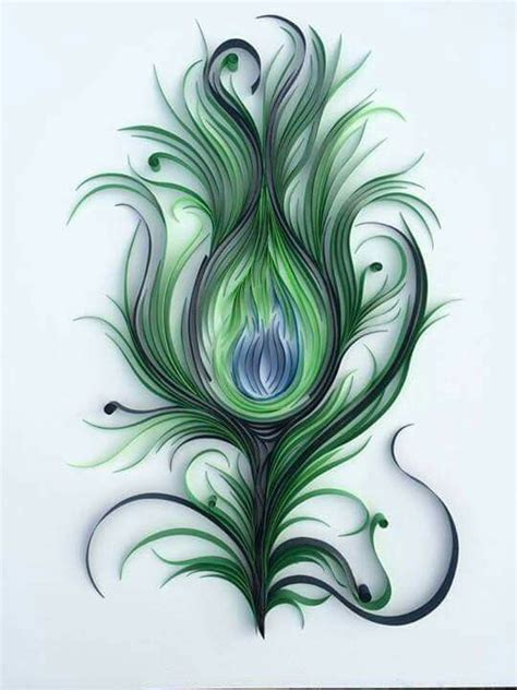 How To Make Peacock Feather With Paper - 315 best images about quilling inspiration on