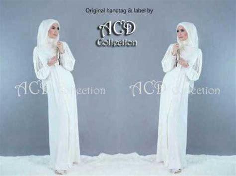 gamis putih lucia white pashmina model busana muslimah