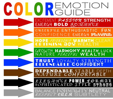 color emotions colour emotion guide va colour pinterest psychology