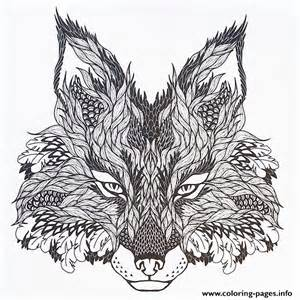 Print adults difficult animals wolf hd color coloring pages free