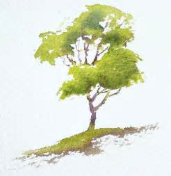 water color trees interactive watercolour demonstration simple tree