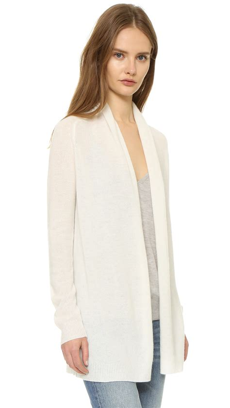 Cardigan Seventeen Ivory White lyst theory feather ashtry cardigan in