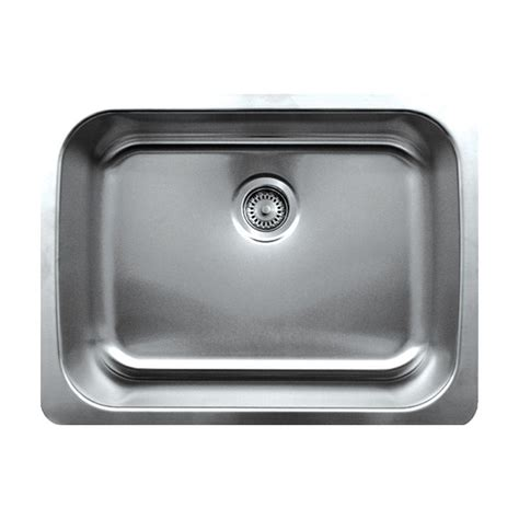 Brushed Steel Kitchen Sink Whitehaus Collection Noah S Collection Undermount Brushed Stainless Steel 25 In Single Basin