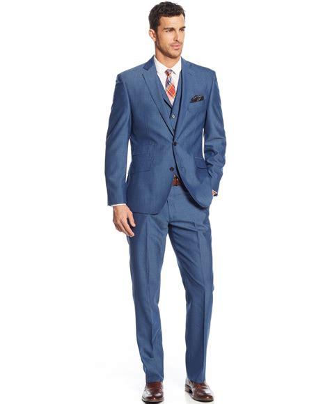 images of modern suits tallia modern blue solid sharkskin vested slim fit suit