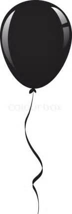 How To Do Birthday Decoration At Home Black Balloon Ribbon Stock Vector Colourbox