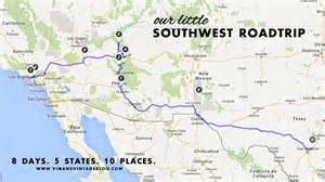 us highway map southwest 10 places 5 states 8 days southwest roadtrip guide