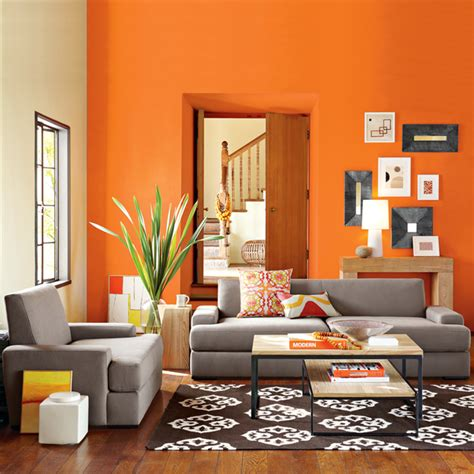 orange living room designs one decor