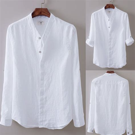 Linen Cotton Sleeve Shirt us s sleeve linen casual shirts breathable cotton