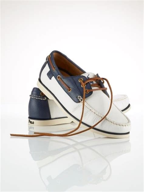 white polo boat shoes polo ralph lauren bienne boat shoe in white for men white