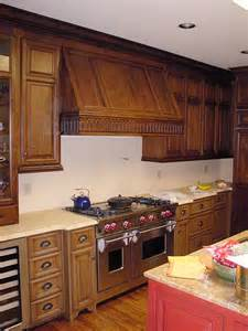 Walnut Kitchen Cabinets Walnut Stove Hood Amp Cabinets