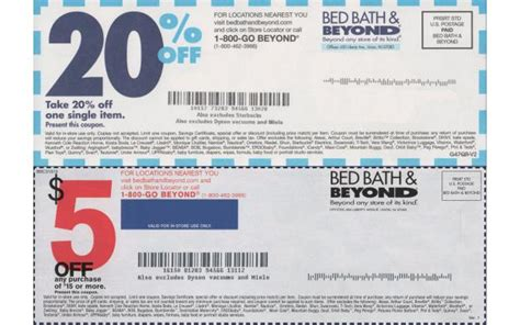 coupons for bed bath beyond bed bath beyond coupon 101qs