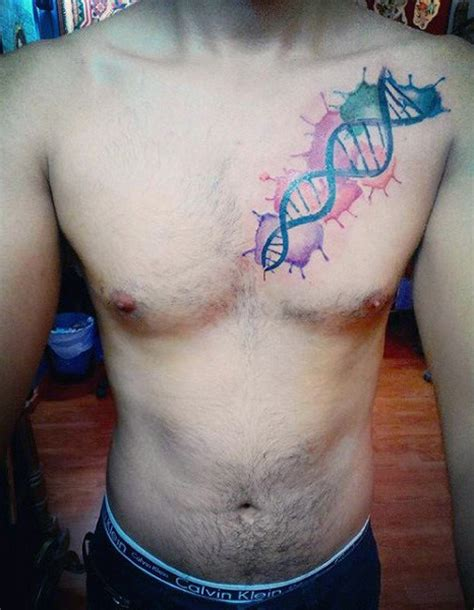60 dna tattoo designs for men self replicating genetic ink