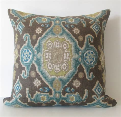 Teal And Brown Decorative Pillows Handmade Spark Chicdecorpillows Decorative Pillow